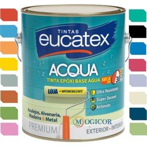 Tinta Epóxi Base Água 3,6l - Eucatex - Gelo