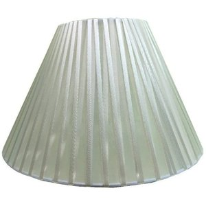 Cúpula Para Abajur Ref 18 Tecido Voil Rosa/Preto/Branco/Bege - Cúpula Branca