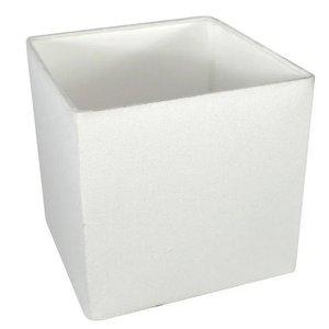 Cúpula Quadrada Para Abajur Ref 47 - Cúpula Branca