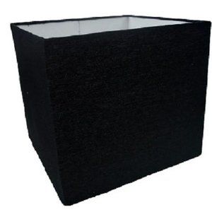 Cúpula Quadrada Para Abajur Ref 47 - Cúpula Preta