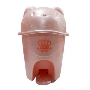 Lixeira Majestic C/ Pedal - 6,5 Litros - Cores Variadas - Adoleta Bebê - Rosa