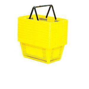 Cesta de Mercado 13 litros - Média - KIT 10uni - Amarelo