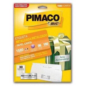 Etiqueta Pimaco Carta Metalizadas 1585 Com 5 Unidades