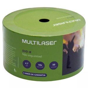 DVD-R Multilaser - Não imprimível C/ 50 unid