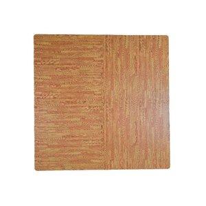 Tatame Em Eva Imitação Piso De Madeira 61X61Cm - Marrom