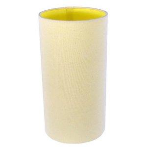 Cúpula Cilindrica Para Abajur Ref 90 Algodão - Cúpula Bege