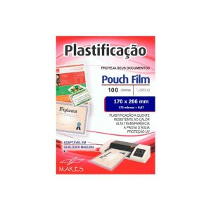 Pouch Film Plastificação 0,7 Meio Oficio 100 Lâminas - Mares