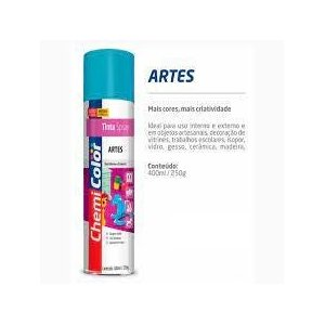 Tinta Spray Chemicolor Artes Baston 400ml 0680164 Rosa