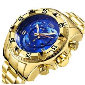 Relogio Reserve Temeite Super Luxuoso em aço inox dourado