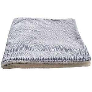 Cobertor para Cachorro Edredom Chevron Azul