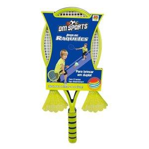 Jogo de raquetes Infantil c/ 2 Petecas Dm Toys