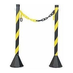 2x Pedestal Zebrado Sinalização E Segurança