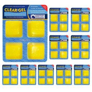 Kit 10 Clear Gel Super Clarificante Maresias Tratamento Saudável Auxiliar na Filtração
