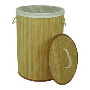 Cesto bambu Forrado Roupas Sujas Banheiro Lavanderia alças