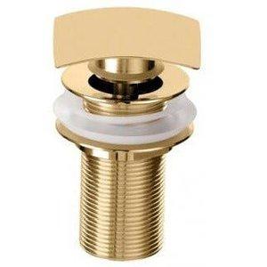 Válvula Kromma Clic-Clac Quadrada Acabamento Dourado.