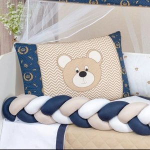 Kit Berço Urso Baby Bege 12PCS
