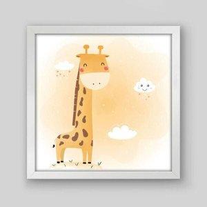 Quadro Infantil Girafa Aquarela