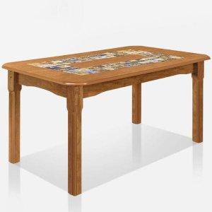 Mesa de Madeira Imperial Canela Rústico - Art Panta