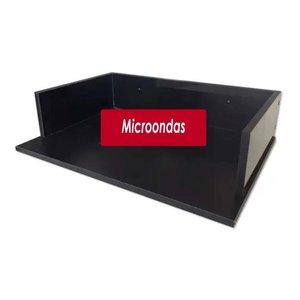 Suporte Microondas Forno Forninho Nicho 60x15x43 Mdf Preto para Brastemp 20 25 30 31 32 Litros ou Ma