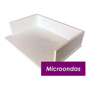 Suporte Microondas Forno Forninho Nicho 60x15x43 Mdf Branco para Muller 20 25 30 31 32 Litros ou Mai
