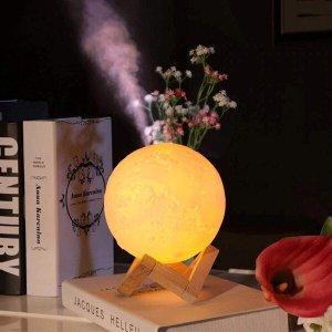 Lua Umidificadora Aromatizador Difusor Luminaria Abajur 3D