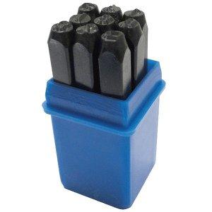 Kit Marcador Punção Números 5mm (9 Peças)
