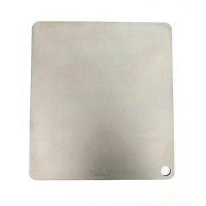 Chapa Original - Pedra refratária de aço para assar pizza e pão em forno residencial - 40x35,5cm (6m