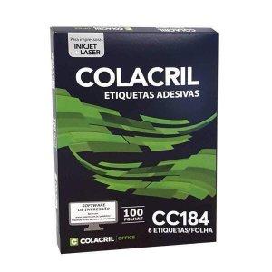 Etiqueta Em Folha 84,7 X 101,6Mm 100Fls Colacril