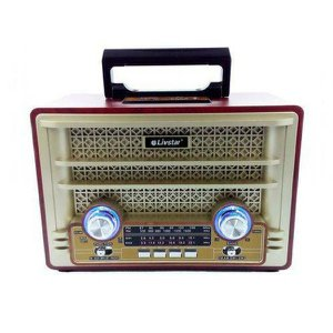 Radio Retro Portátil Clássico Bluetooth USB estilo Vintage