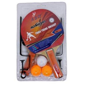 Kit Raquete Tênis de Mesa Esport Com Bolas, Rede, e Suporte 707 Sortidos - UN