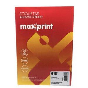 Etiqueta 6181 Ink/Las 25,4X101,6Mm 100Fls Maxprint