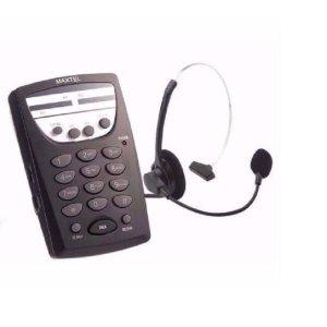 Telefone Com Fio Headset Maxtel Rj11 Telemarketing MT108