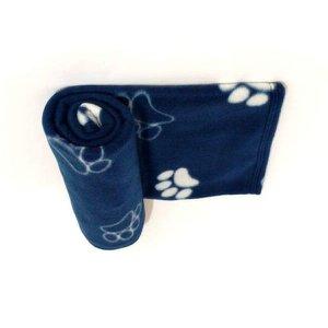 Manta Pet cobertor soft azul marinho tamanho G cães e gatos