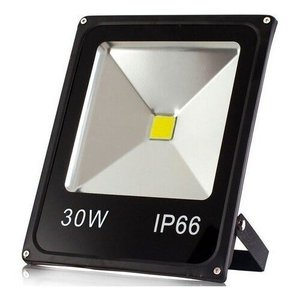 Refletor Holofote IP66 Led 30w Luz Branco Quente Bivolt Prova D'água Externo Super Iluminação