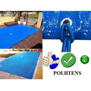 Capa Proteção Piscina 4,0X2,5 C/ ilhós e corda 500 micras