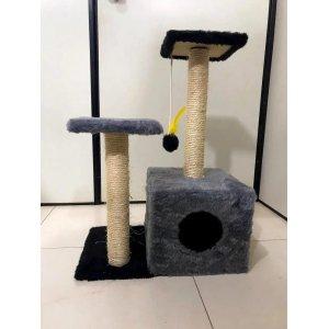 Arranhador Toca Para Gato Cinza