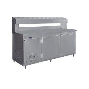Balcão De Serviço Para Pizzaria Com Cubas de 1/6 Inox RF-041 - Frilux 110 V