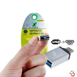 Adaptador OTG Tipo C Para ligar mouse ou colocar pendrive no Smartphone (Type C) Xcell XC-ADP-10