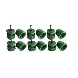 Roldana Isoladores 36x36 - Prego 17x21 C/200 Unidades-verde