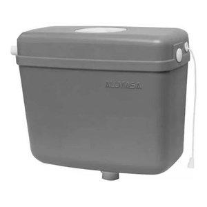 Caixa De Descarga Plástica Sem Engate Alumasa Diversas Cores:Cinza