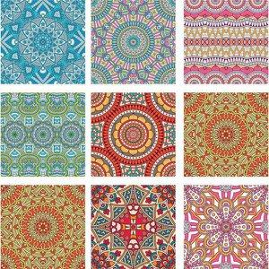 KIT Adesivo de Azulejos Mosaicos Coloridos - 16 Unidades com 15cm x 15cm cada