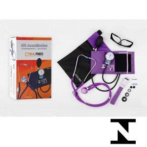Kit Enfermagem Acadêmico Completo Roxo PA MED Garantia