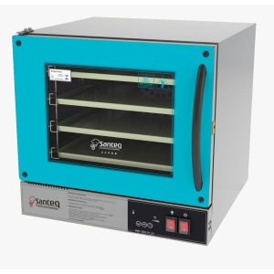 Forno Digital Elétrico Turbo de Convecção Inox - Azul Tiffany com 4 bandejas removíveis:220V
