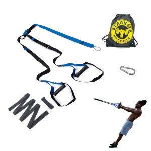 Fita De Treinamento Suspenso Kit Para Treino Funcional Suspensão Pilates Trx - Azul