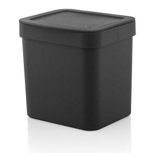 Lixeira 2,5 Litros Trium Bancada Pia Cozinha - Preto