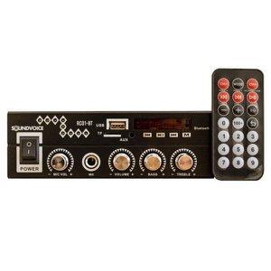 Receiver Amplificador Soundvoice 60W Rms RC01BT Bivolt Preto Bluethooth/USB/SD/FM/Mic:PRETA/UNICO