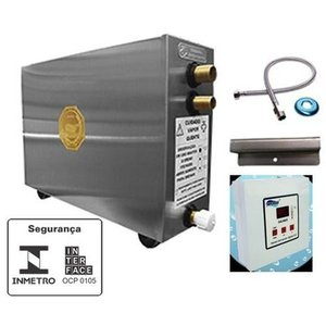 Sauna Vapor Elétrica 6kw Inox 220v Bif Digital Impercap