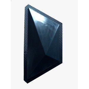 Forma Gesso 3D Branca Abs 2,0Mm Trapezio