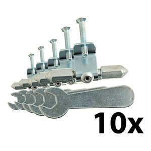 Kit 10 Unidades Reparo De Abas P/ Caixa De Luz 4x2 Marcai