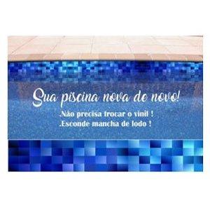 Faixa de Piscina Vinil Autocolante Azul Degrade Película 35mx25cm